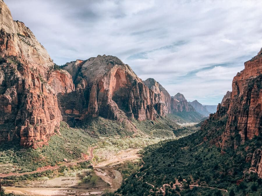 A view from the hike to Angel's Landing in Zion National Park