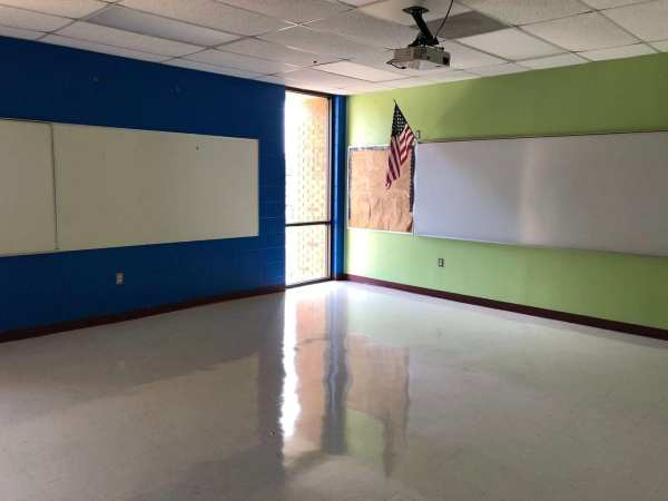 My classroom completely empty after I packed up my stuff to leave teaching