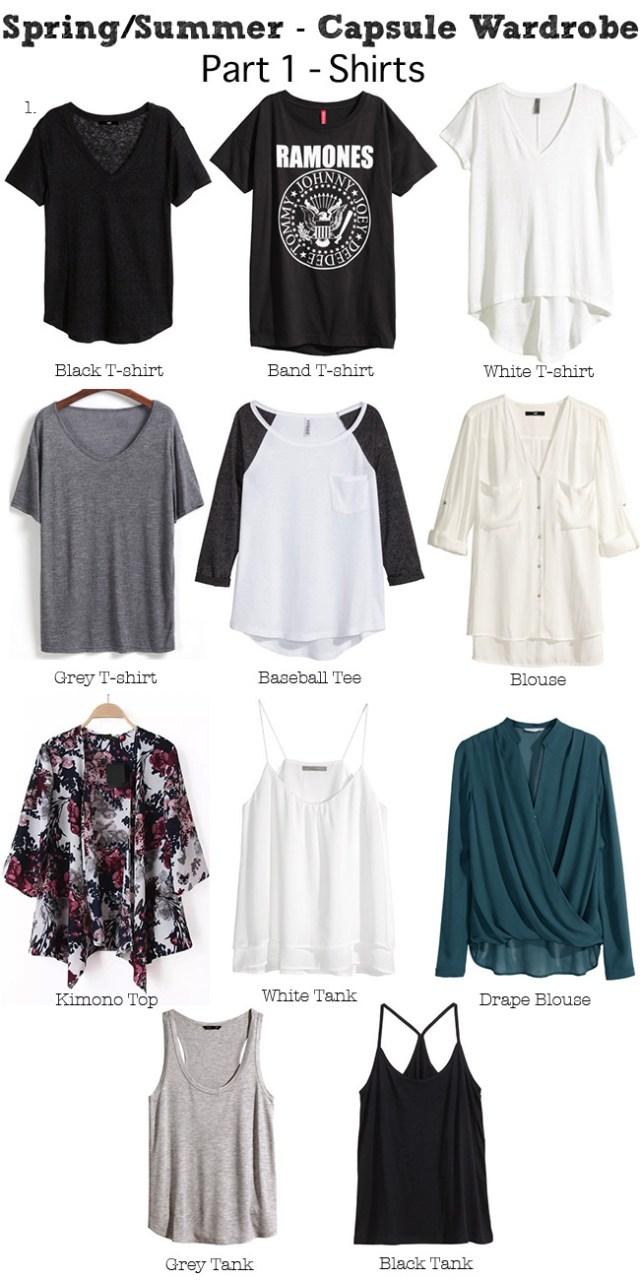 Spring Summer Capsule wardrobe Shirts