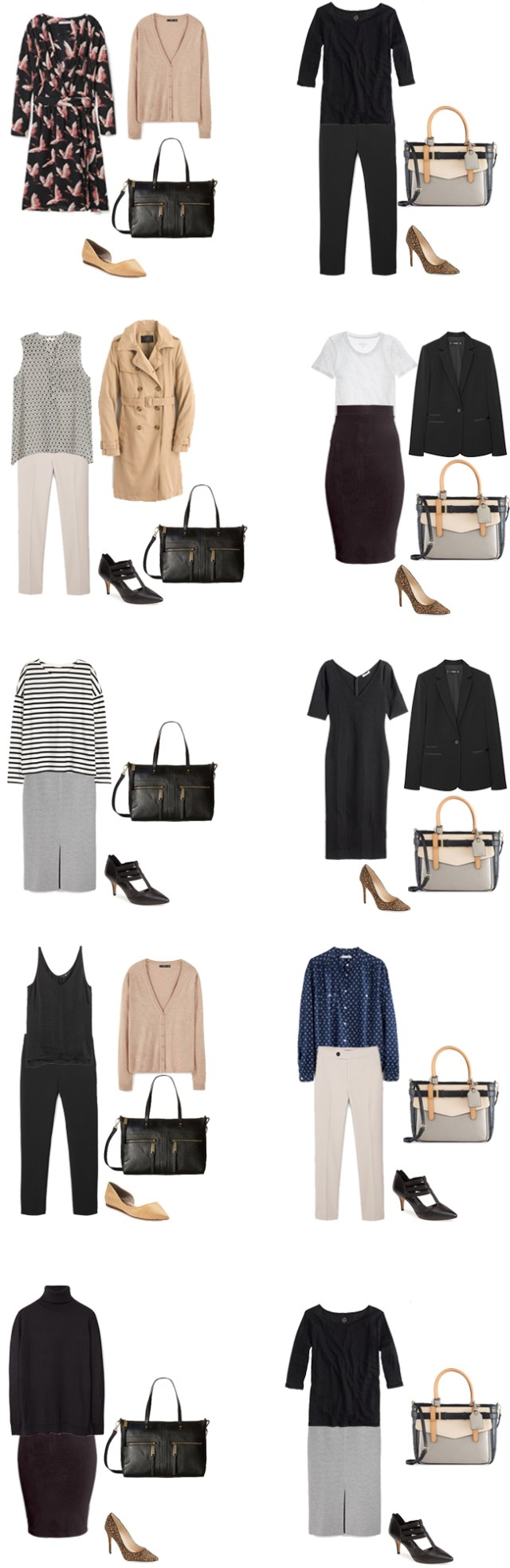 Basic Work Capsule Outfits 21-30 #capsulewardrobe #workwardrobe #workwear #capsule