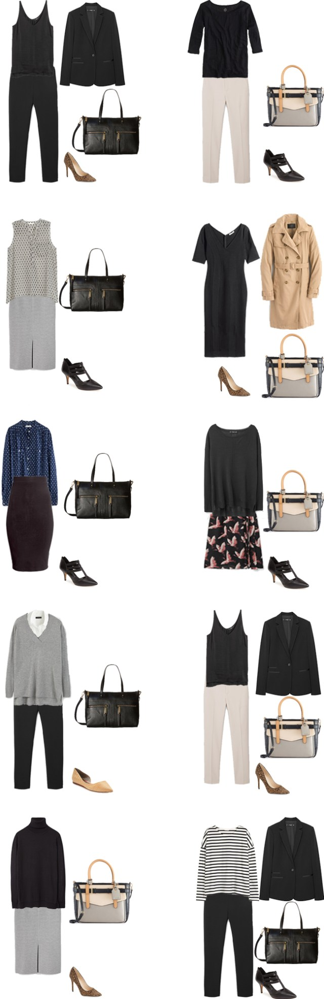 Basic Work Capsule Outfits 31-40 #capsulewardrobe #workwardrobe #workwear #capsule