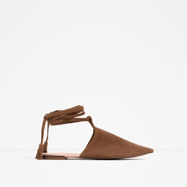 Zara FLAT LACE-UP SHOES