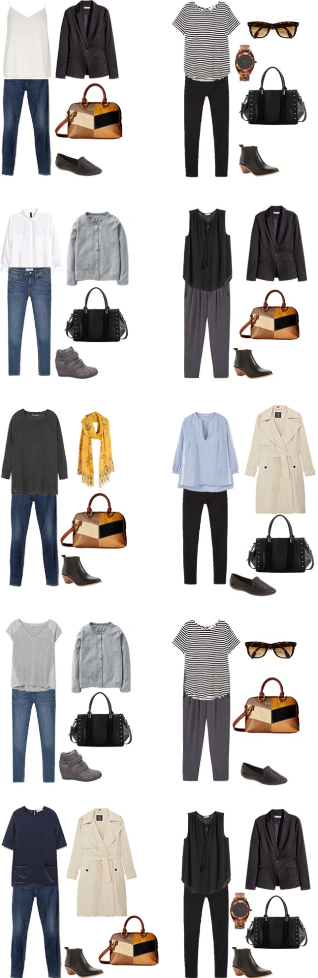 What to wear on a business trip Outfit Options 11-20 #travel #travelcapsule #workwardrobe #workcapsule