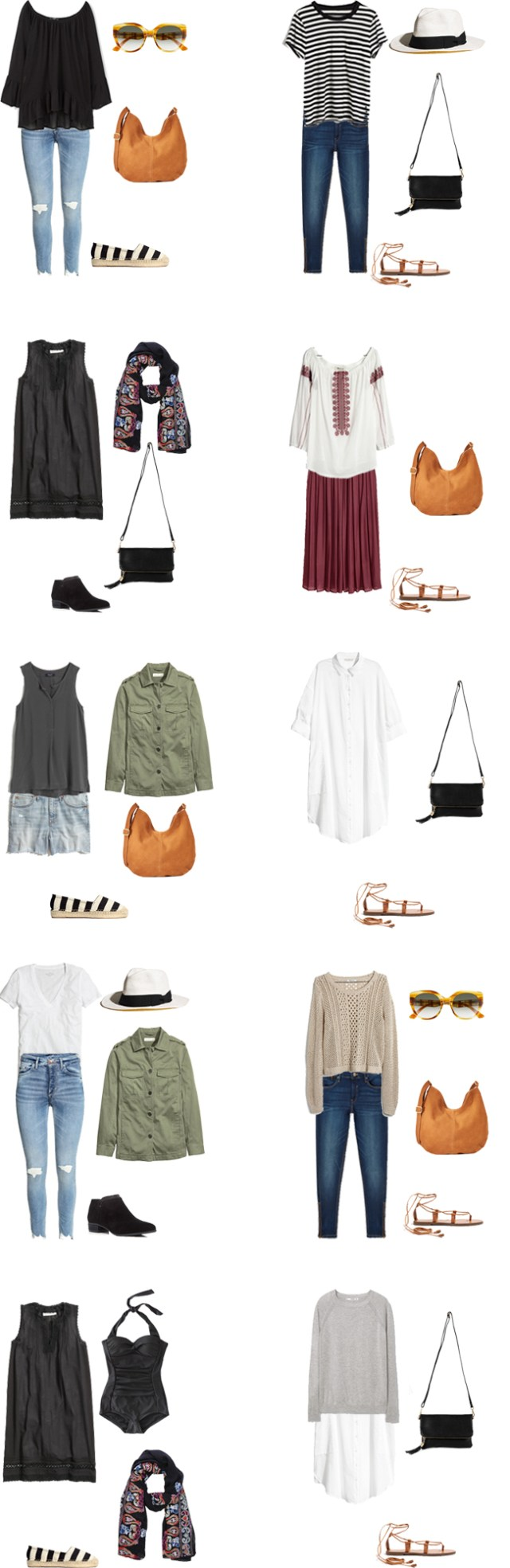 What to Wear in Spain and Italy Outfit Options 21-30 #travellight #packinglight #travel #traveltips