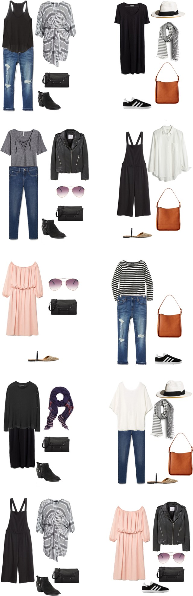 What to Wear in Italy and France Outfit Options 1-10 #travellight #packinglight #travel #traveltips
