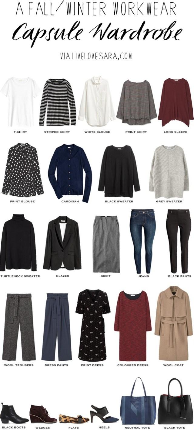 Fall Winter Workwear Capsule Wardrobe Business Casual