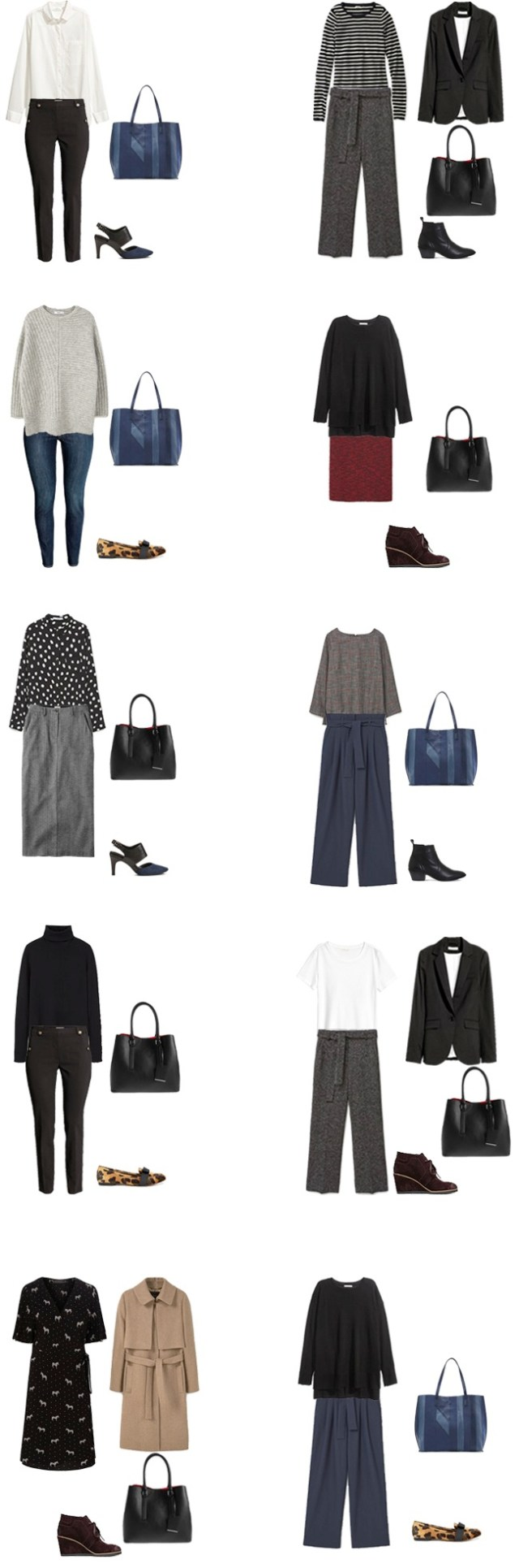 Fall/winter work capsule wardrobe business casual outfit options 21-30 #capsule #capsulewardrobe #workcapsule #workwear