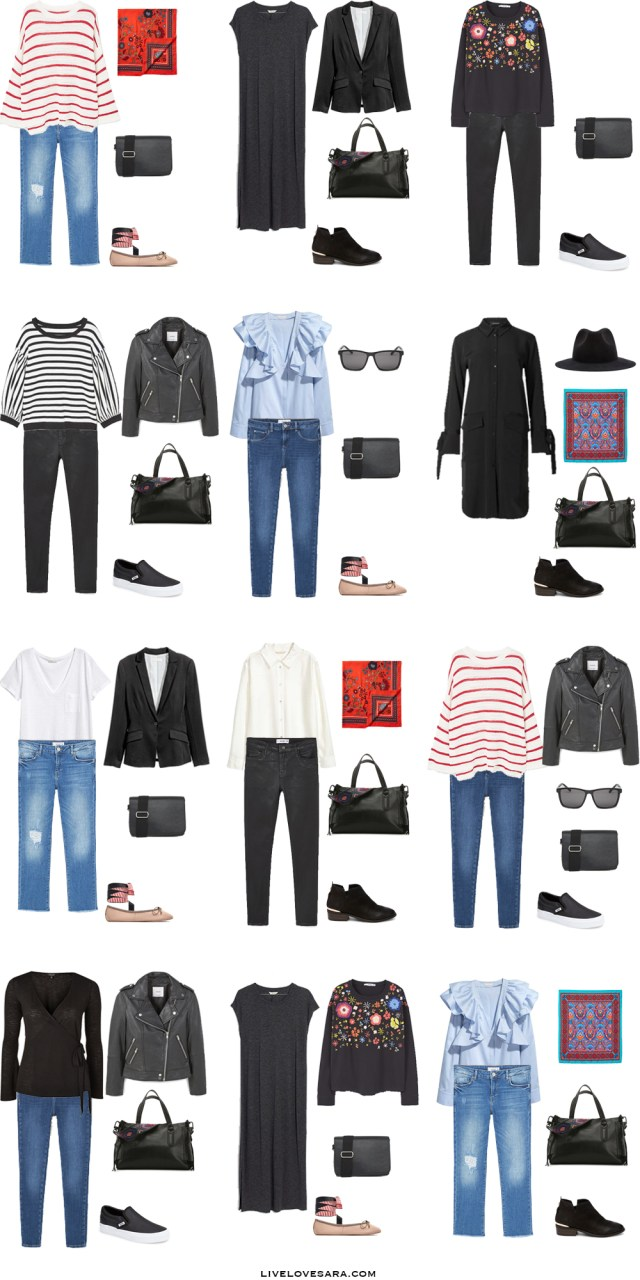 What to Wear in The French Riviera Outfit Options 13-24 Packing Light List #packinglist #packinglight #travellight #travel #livelovesara