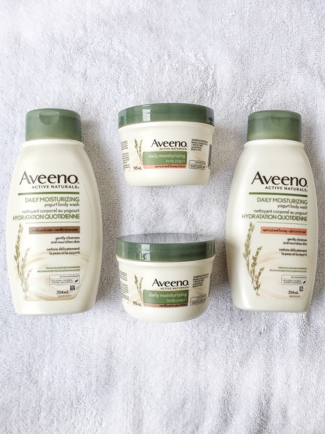 AVEENO® Daily Moisturizing Body Yogurts & Washes in Vanilla & Oats, Apricot & Honey #AveenoCA #sponsored