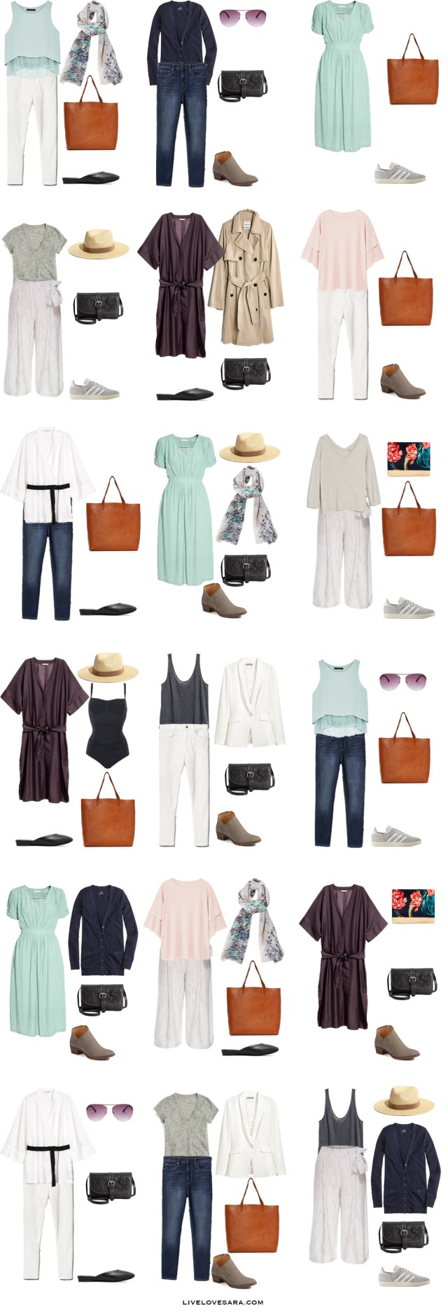 What to Pack for Italy and Paris Packing Light List Outfit Options #packinglist #packinglight #travellight #travel #livelovesara