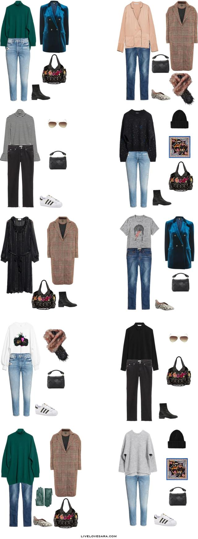 What to Pack for Ghent, Belgium Packing Light List Outfit Options 1-10 #packinglight #travellight #packinglist #travel #capsule #capsulewardrobe #livelovesara