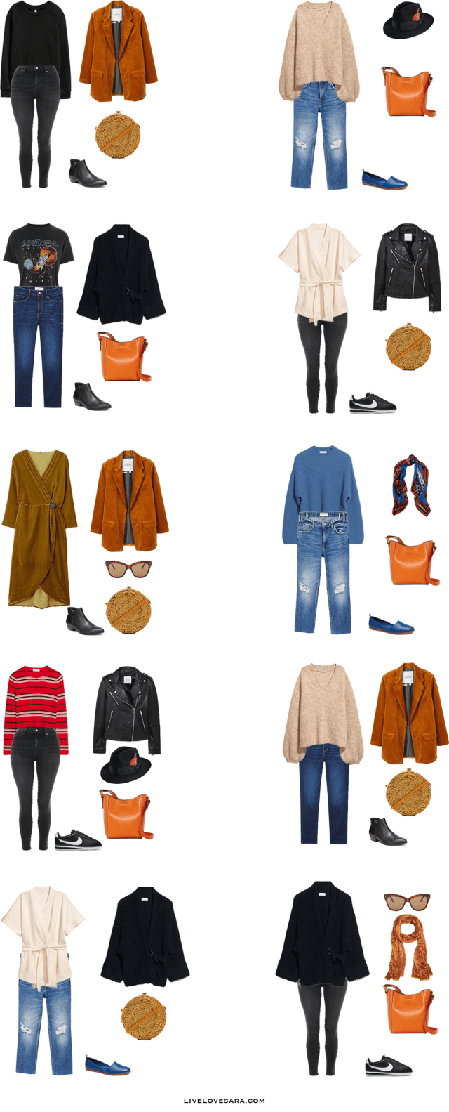 What to Pack for Amsterdam, Netherlands Outfit Options 11-20 | Packing Light | Packing List | Travel Light | Travel Wardrobe | Travel l Capsule | Capsule | Capsule Wardrobe | Travel | Travel tips | What to Pack | Amsterdam | What to Wear | Livelovesara
