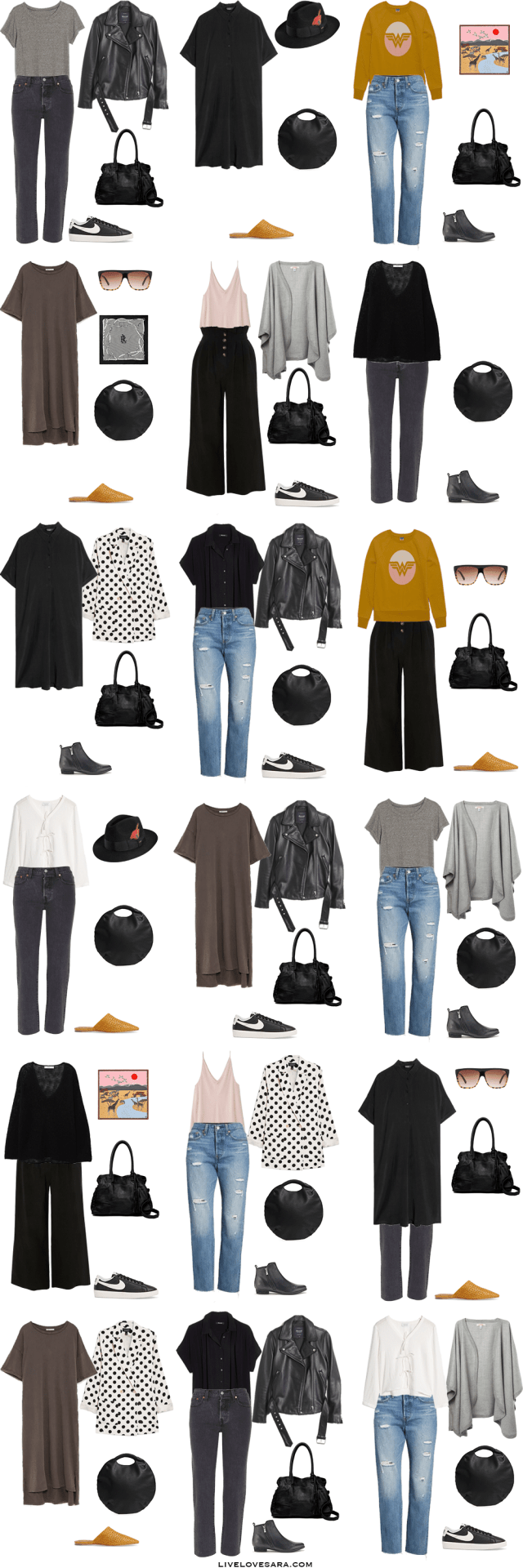 If you are wondering what to pack for Norway in the summer time for 10 days, you can see some outfit ideas here. What to Pack for Norway Packing Light List | What to pack for Norway l | What to Pack for Scandinavia | Packing Light | Packing List | Travel Light | Travel Wardrobe | Travel Capsule | Capsule | #capsulewardrobe #capsule #norway #scandinavia #livelovesara