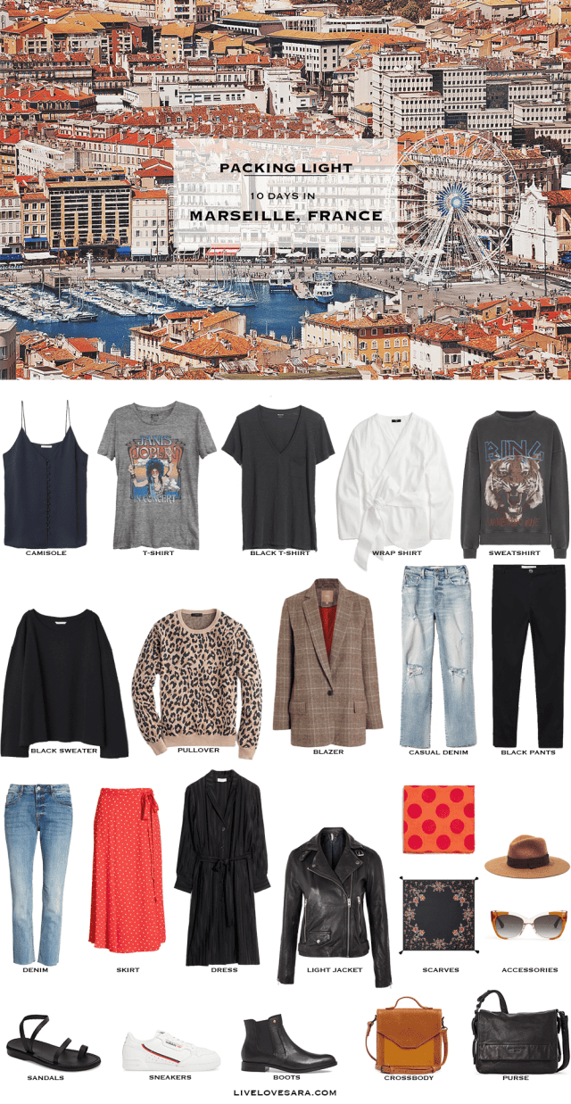 If you are wondering what to pack for a 10 Day vacation in Marseille, France, you can see some ideas here. What to Pack for Marseille Packing Light List | What to pack for the South of France l | What to Pack for Autumn | Packing Light | Packing List | What to pack for France | What to pack for Europe | Travel Light | Travel Wardrobe | Travel Capsule | Capsule |
