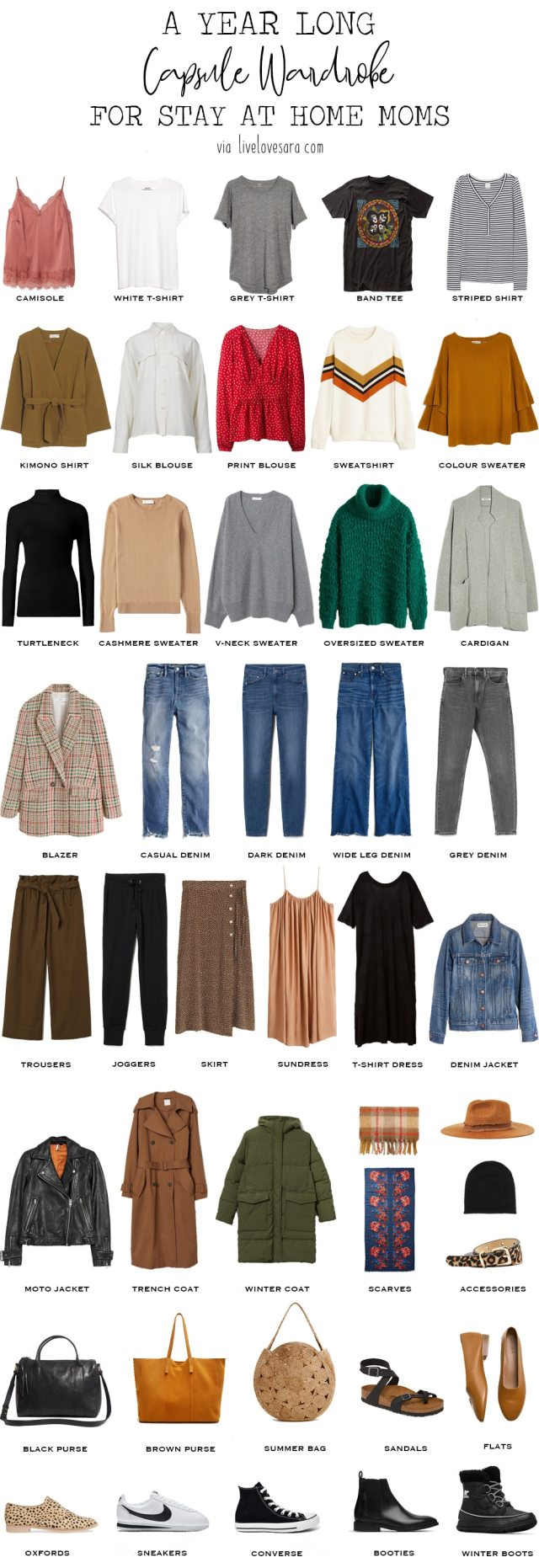 Do you need some help downsizing your wardrobe. Are you a stay at home mom who is looking to have a stylish, casual, and easy to wear wardrobe that is and looks effortless? Check out my Year long capsule wardrobe for stay at home moms | Mom style | #capsulewardrobe #sustainablefashion #slowfashion #capslook #minimalliving #sustainableliving #lessismore #styleblogger #slowliving #minimaliststyle #motherhood #wearyourcloset