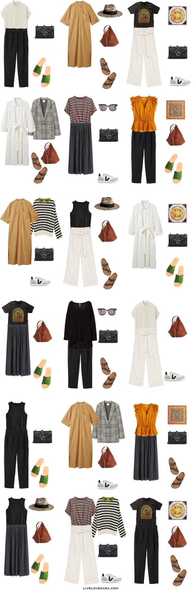 A What to Pack for Croatia Packing List and corresponding outfit options.