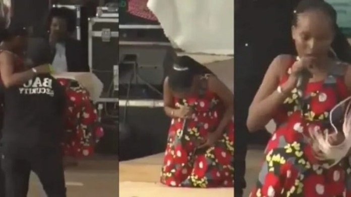 Heavily Pregnant Ugandan Singer Goes Into Labour While Performing On Stage