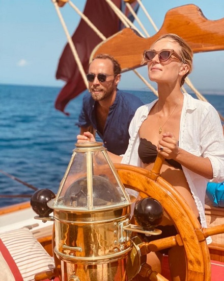 James Middleton Celebrates One Year Since Proposing to Alizee Thevenet with Yacht Vacation in Italy