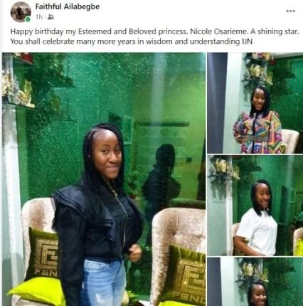 Happy Birthday To the Beautiful Nicole Osarieme Ailabegbe
