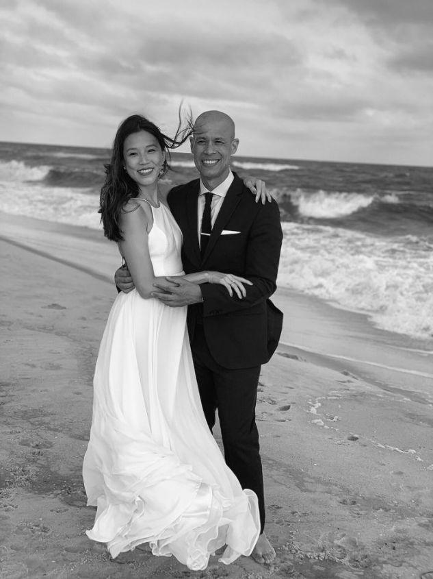 CBS News' Vladimir Duthiers Weds Longtime Love Marian Wang on Fire Island Beach