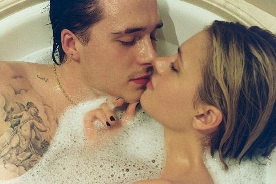Brooklyn Beckham and Fiancé Nicola Peltz Celebrate 1-Year Anniversary with Steamy Bathtub Photo