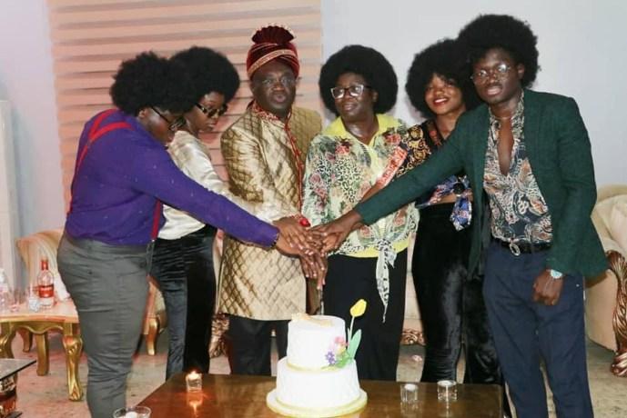Governor Ikpeazu And Wife Celebrate 29th Wedding Anniversary In Old School Attires (Pix)