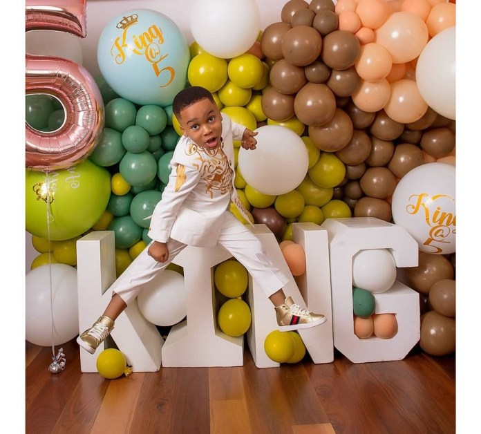 Tonto Dikeh Celebrates Son's 5th Birthday With Beautiful Photos And Gifts Him A Star