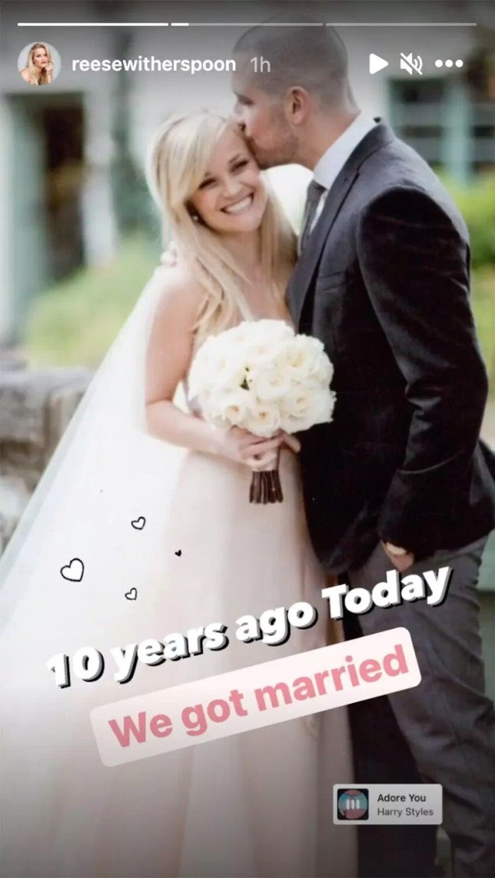 Reese Witherspoon Celebrates 10-Year Wedding Anniversary with Husband Jim Toth: 'Here's to Many More