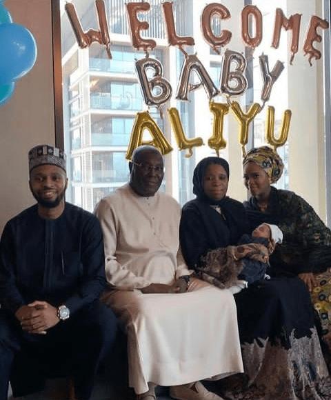 Atiku Abubakar's son Mustapha and wife, Afrah welcome a baby boy