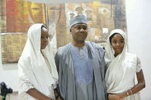 Ex-Senate President, Bukola Saraki, celebrates his twin daughters as they turn a year older