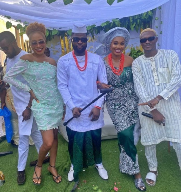 Singer Skales marries his model fiancée, Hasanity (traditional wedding pictures & video)