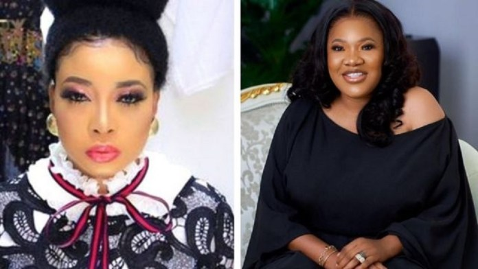 """""""Stop Cursing My Son And Husband"""" – Actress, Toyin Abraham Breaks Down In Tears As She Addresses Her Issue With Lizzy Anjorin (Video)"""
