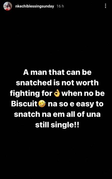 'A Man That Can Be Snatched Is Not Worth Fighting For' Actress Nkechi Blessing