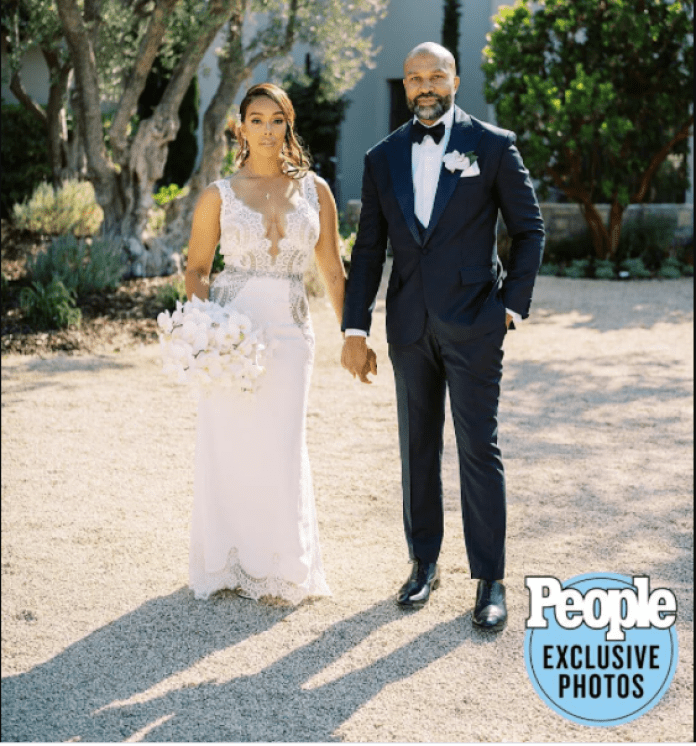 Former NBA star, Derek Fisher and Gloria Govan tie the knot after pandemic delayed wedding (photos)