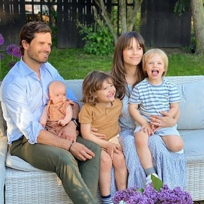 Princess Sofia and Prince Carl Philip of Sweden Share Their First Photo as a Family of Five