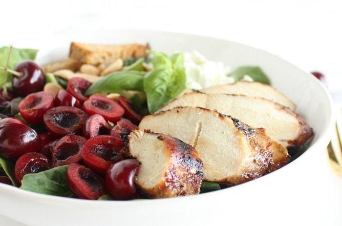 Cherry Almond Grilled Chicken Salad