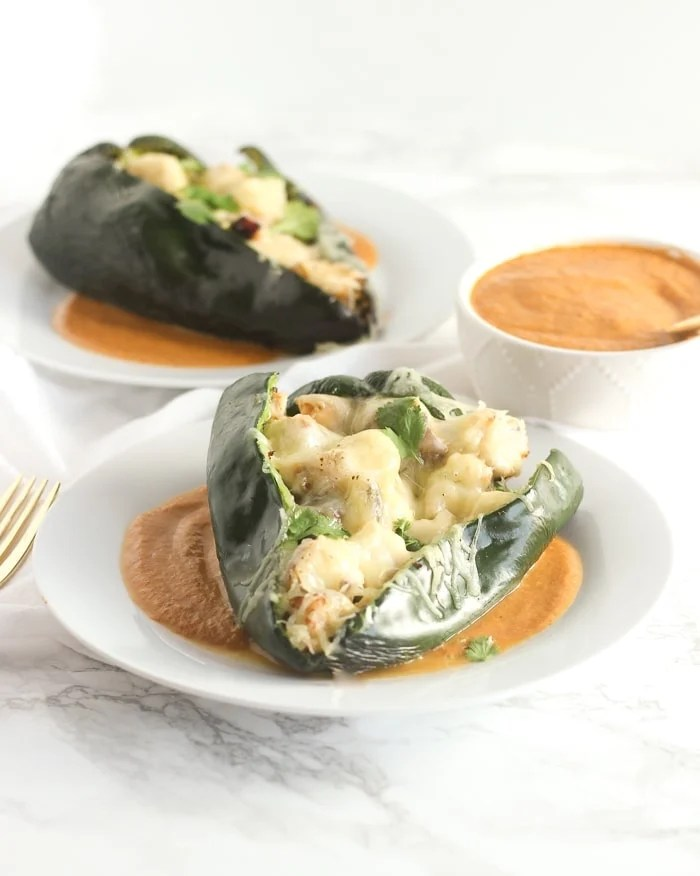 Grilled chicken chile rellenos are a healthier, easier twist on the Mexican classic. Made entirely on the grill from start to finish with real food ingredients, these grilled rellenos make a delicious and healthy dinner with easy clean up! (gluten-free) | via livelytable.com