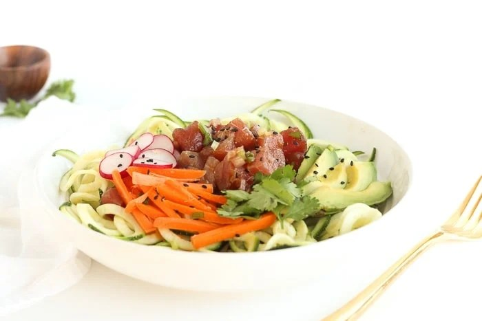 Zucchini Noodle Poke Bowl