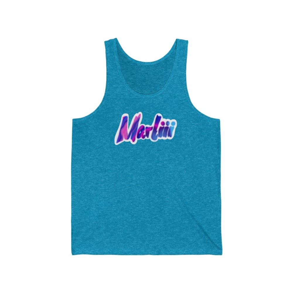 Buy Blue Tank Top Merchandise from Live Mic Record Label Services Merchandise in USA