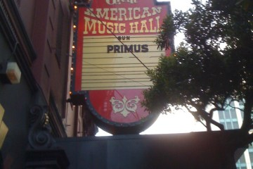 primus at great american music hall marquee