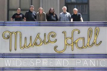Widespread Panic on Radio City Music Hall marquee