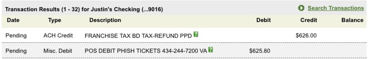 phish lotto tax refund