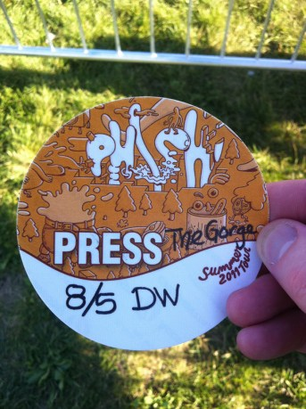 Press Pass for Phish @ The Gorge, 8/5/11   Photo by Justin Ward