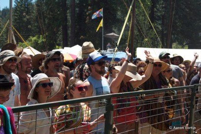 Fans taking in the Elephant Revival set at Big Meadow, HSMF 2012
