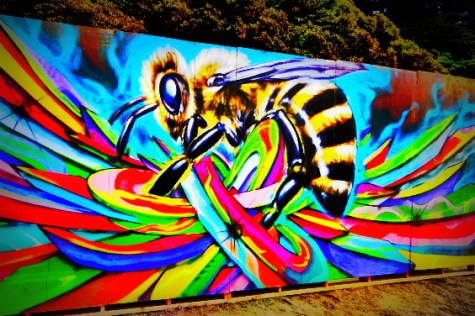 Bee Graffiti Art @ Outside Lands 2012 || Photo © Wesley Hodges
