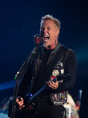 James Hetfield of METALLICA @ Outside Lands 2012 || Photo by Jimmy Grotting