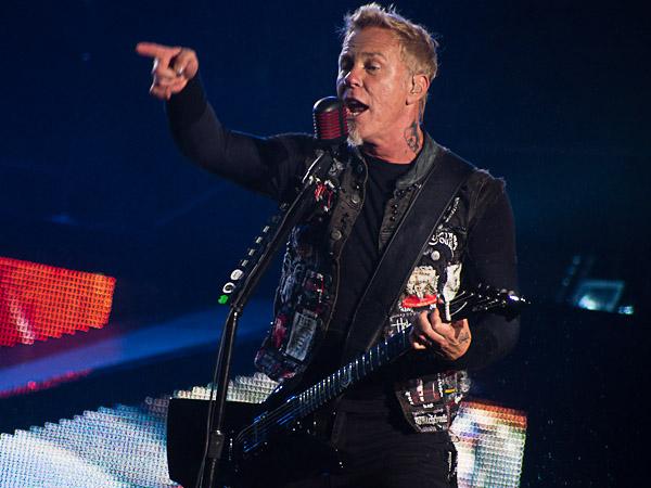 James Hetfield of Metallica @ Outside Lands 2012    Photo © Jimmy Grotting