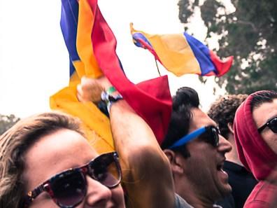 Fans at Bomba Estereo @ Outside Lands 2012 || Photo © Jimmy Grotting