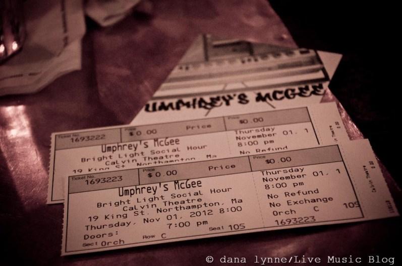 Umphrey's Mcgee @ The Calvin, Northampton MA 11.1.2012
