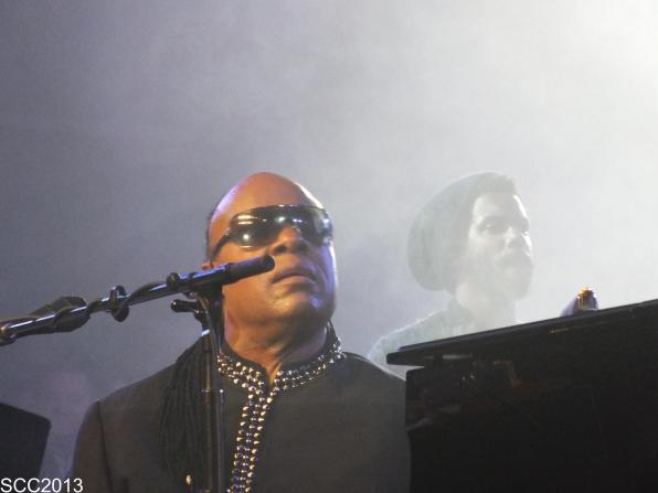 Stevie Wonder and Gary Clark Jr.